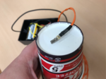紙コップの底面に振動モーターを貼り付け